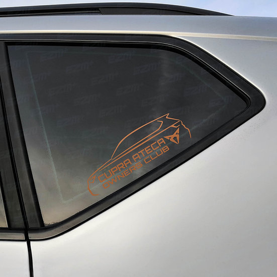 Cupra Ateca Owners Club Official Window Decal