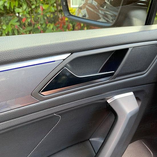 EZM Interior Door Handle Latch Overlays x 4 for VW Tiguan MK2 5N