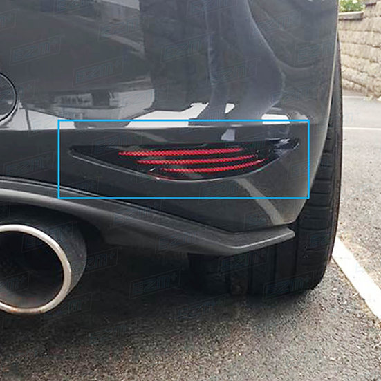 EZM Reflector Decals x 2 for VW Golf MK7 GTI / TSI Models