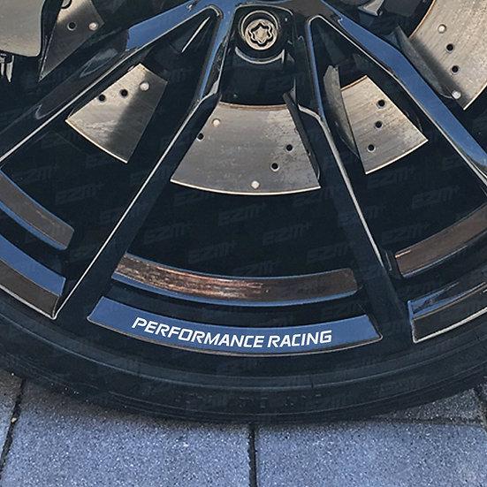 EZM PERFORMANCE RACING Alloy Wheel Rim Decals