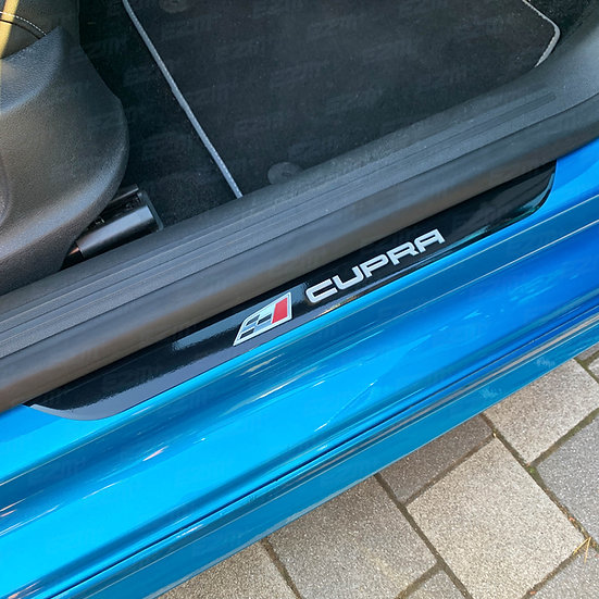 EZM Door Sill Plate Overlays x 2 for Seat Leon MK3 5F Cupra