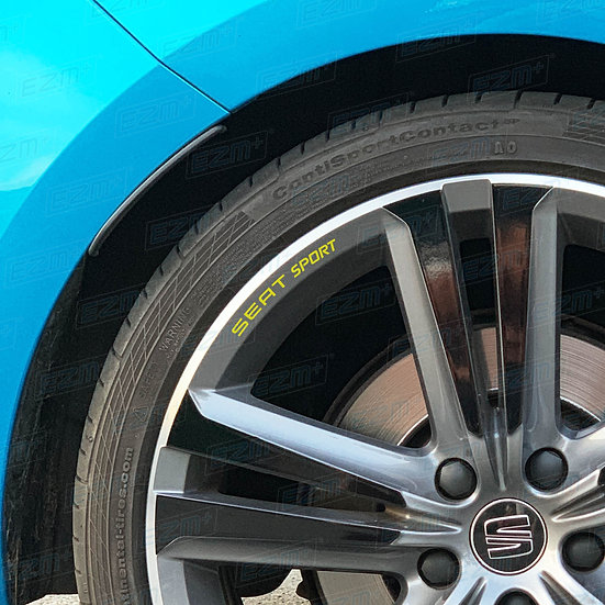 EZM SEAT SPORT Alloy Wheel Rim Decals x 5