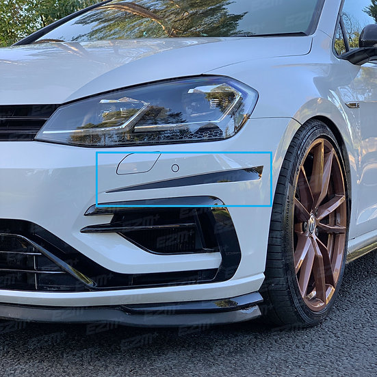 EZM Front Bumper Slash Strips x 2 for VW Golf MK7.5 R & R-Line