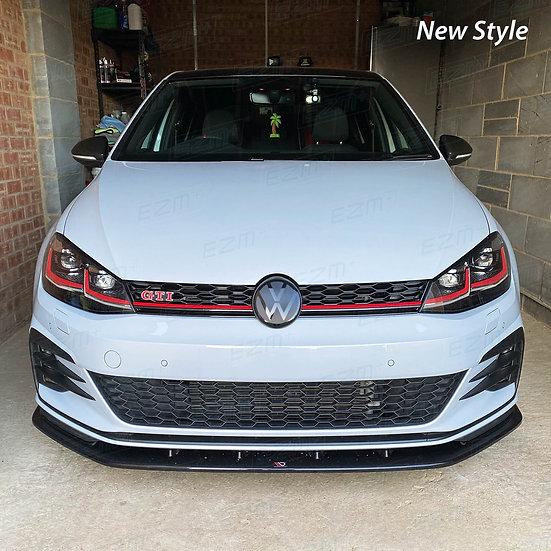 New Style EZM Front Radar Badge Dechrome Kit for VW Golf MK7.5 Facelift GTI