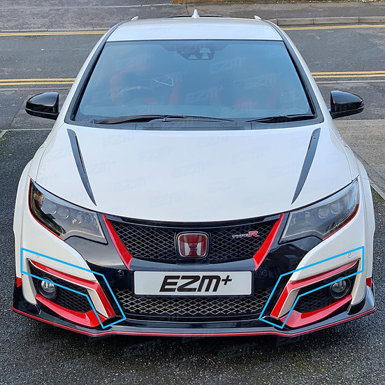 EZM Front Bumper Upper Scoop Decals for Honda Civic Type R FK2
