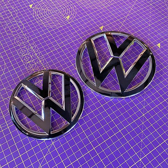 EZM Front Rear VW Badge Overlays for VW Up GTI