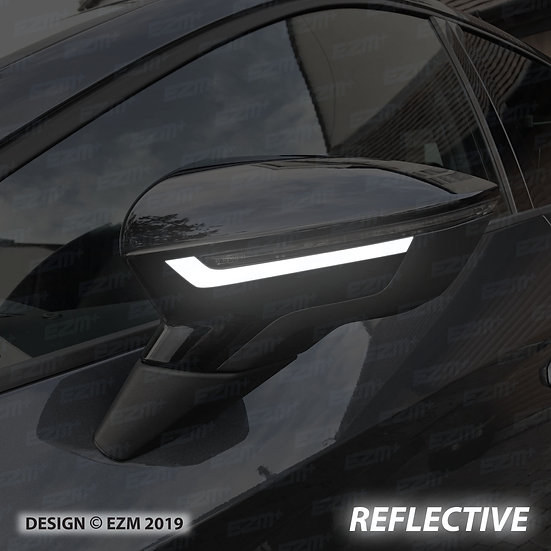 EZM V1 Wing Mirror Strip Decals x 2 for Seat Leon MK3 / MK3.5 Facelift