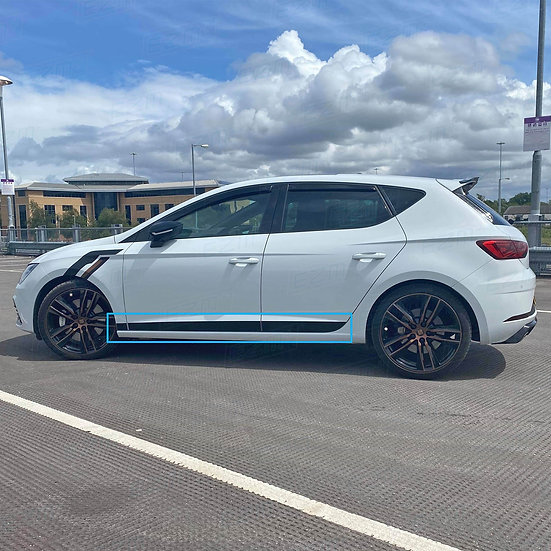 EZM Side Stripe Decals for Seat Leon MK3 / MK3.5 TSI / TDI Models
