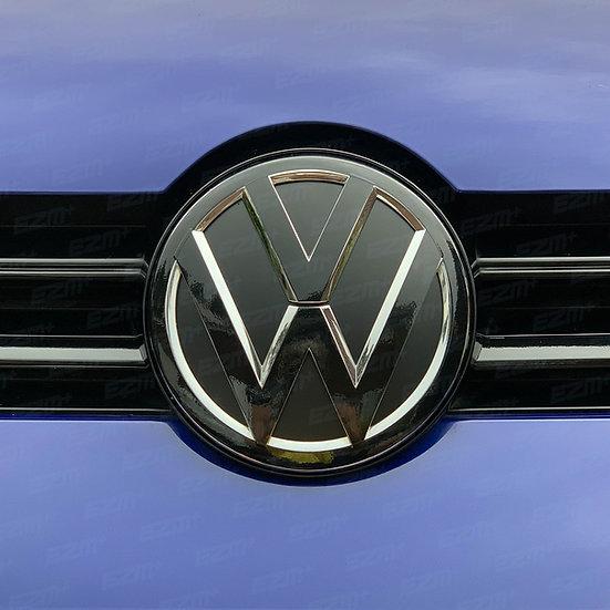 EZM Front & Rear VW Badge Overlays for VW Golf MK7 Models