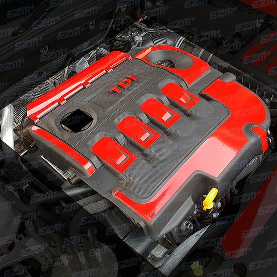 EZM Engine & Fuse Box Cover Decals for Seat Leon MK3 / MK3.5 FR 2.0L TDI