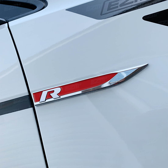 EZM Wing Badge Blade Inlays x 2 for  VW Golf MK7 / MK7.5 R