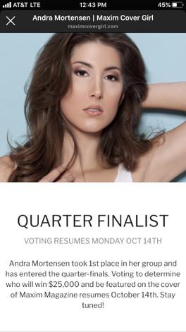 Maxim Cover Girl Quarter Finalist