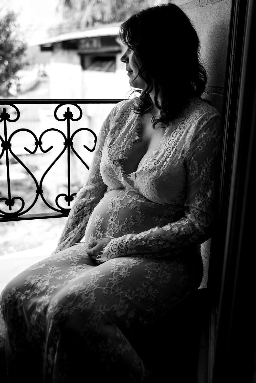 Femme enceinte séance domicile
