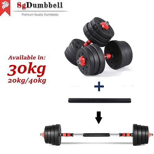 Classic Red 30kg - Dumbbell Set