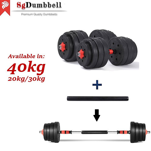 Classic Red 40kg - Dumbbell Set