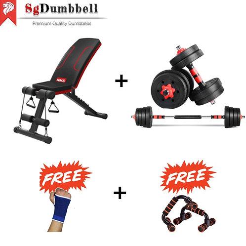 Dumbbell-Barbell bench combo set B