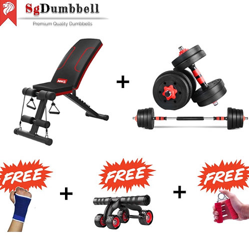 Dumbbell-barbell Combo set C