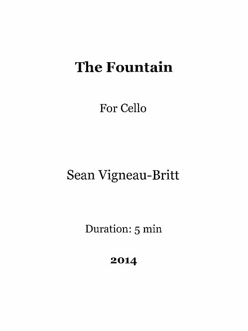 The Fountain, for Cello