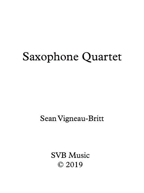 Saxophone Quartet Score