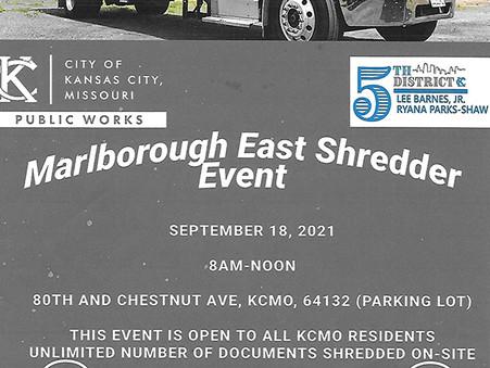 Marlborough East Shredder Event