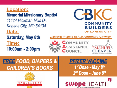 COVID-19 Vaccine Event - FREE food, diapers and books!