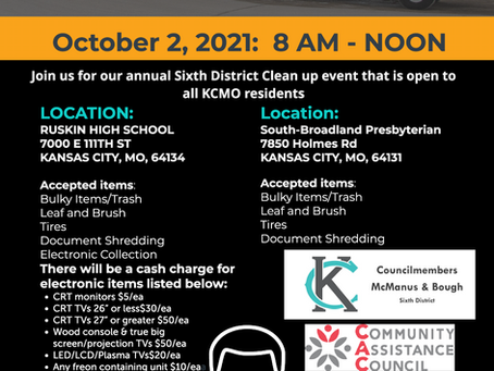 6th District Fall Clean-Up Event - October 2