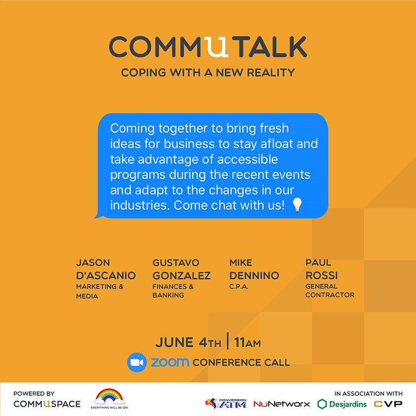commUtalk: Coping With a New Reality