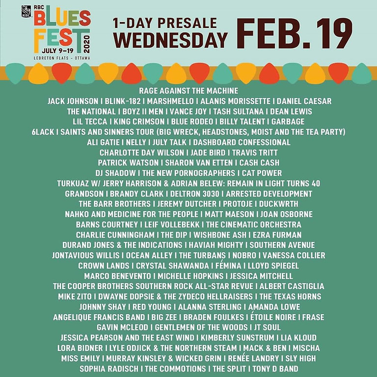 RBC Ottawa Bluefest 2020