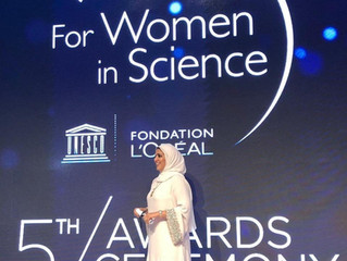 "Recipient of the prestigious            ""L'Oreal UNESCO Award for Woman in Science Middle E"
