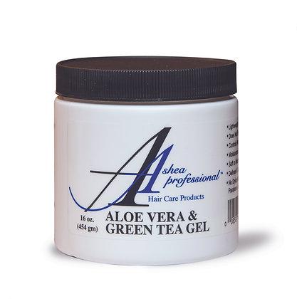 Ashea Aloe Vera & Green Tea Gel 16 oz.