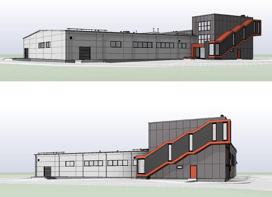 «Zaļkalni», Kārķi, Valkas pagasts. Ražošanas ēkas pārbūve