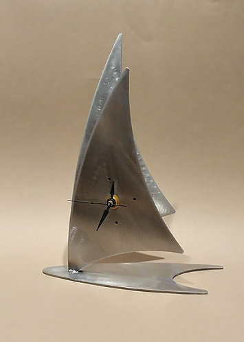 Steel Sailboat Clock