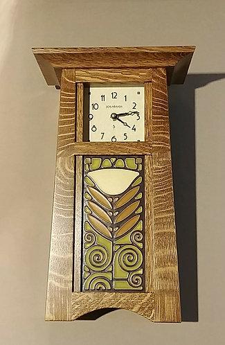 Craftsman Shelf Clock with Tile
