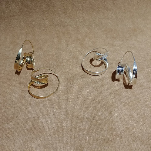14kt Gold Vermeil or Sterling Silver Earrings