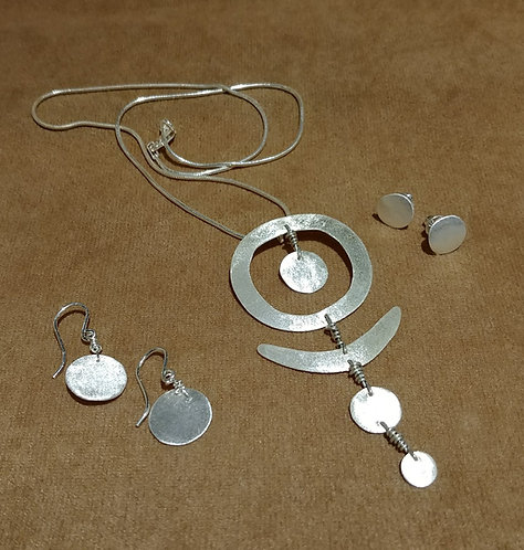 Fine Silver Necklace and Earrings