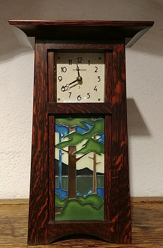 Craftsman Clock with Forest Tile