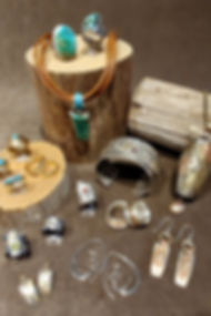 Mixed metals & turquoise jewelry