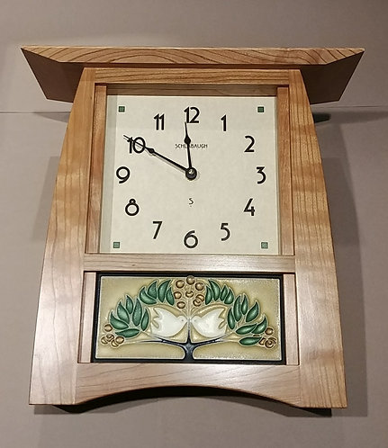 Cherry Clock with Tile