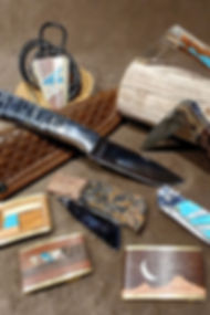 Handcrafted buckles & knives