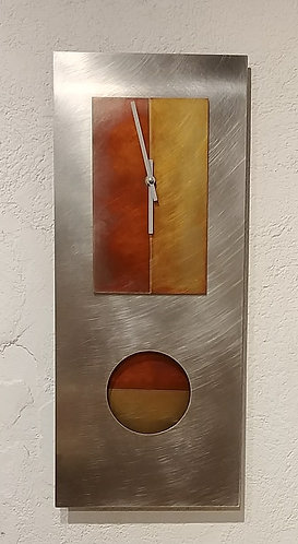 Steel and Copper Clock