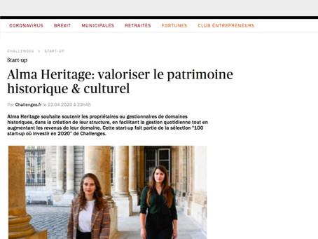 Alma Heritage est dans Challenges