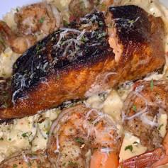 Blackened Salmon & Creamy Cajun Pasta