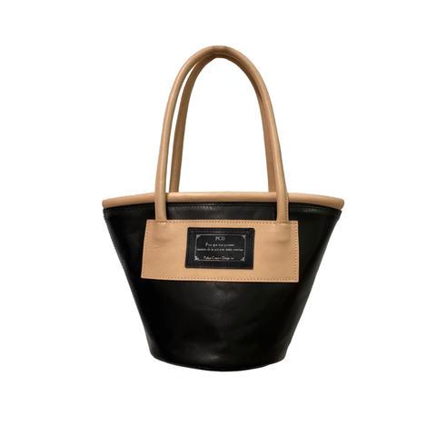 Bicolor Bucket tote - Black -