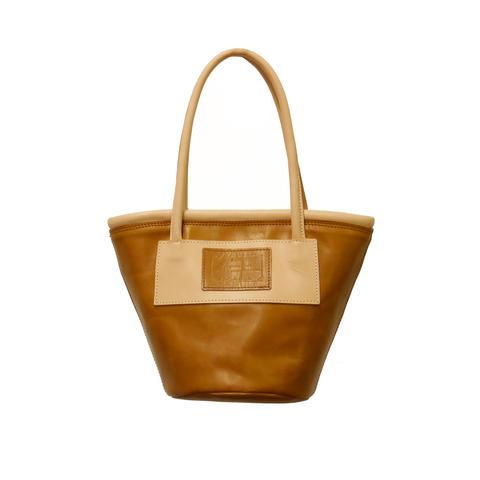 Bicolor Bucket tote - Almond -