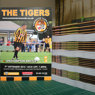 Axminster Town AFC Programmes