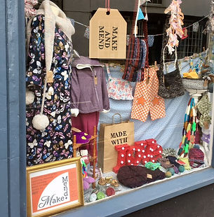 Make and Mend Window Display