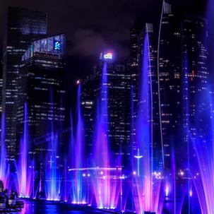 Light show at Singapore's marina.