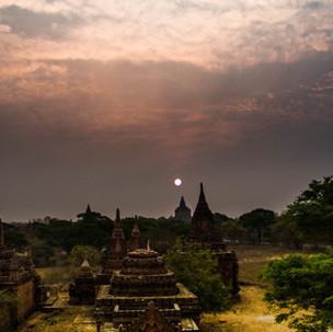 Sunset over Bagan.