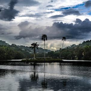 Sunset at Bogambara lake.