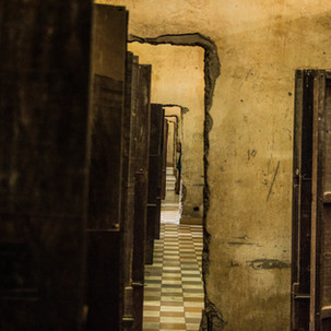Inhumane conditions at Tuol Sleng Prison.